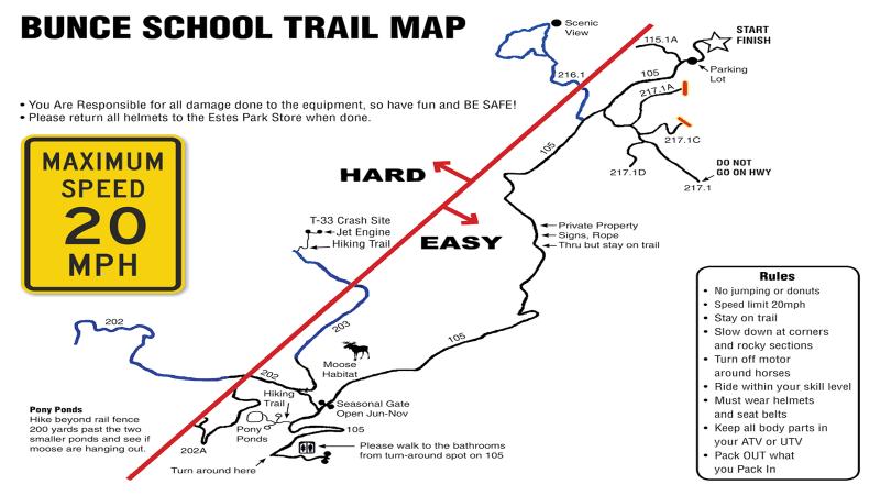 ATV trails and maps bunce school