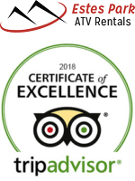 Estes Park ATV Rentals Trip Advisor Badge 2018 Certificate of Excellence